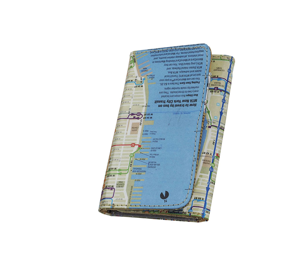 Nyc Subway Map Zippered Wallet.New York Midtown Chelsea Map 2009